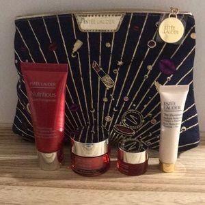Estee Lauder skin care set with bag  Travel size